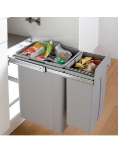 Wesco Kitchen Pull Out Waste Bin Large 36L 300mm Hinged Doors