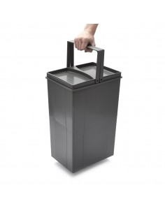Wesco Pullboy Z Kitchen Single Container Waste Bin & Handle
