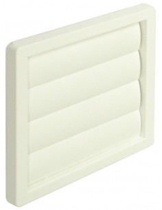 "Airbrick Adapter Gravity Flap Wall Grill 4,5,6"" White/Brown"
