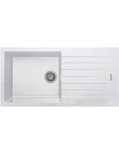 1.0 Bowl Matt White Quartz Kitchen Sink