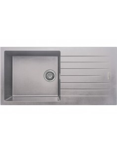 1.0 Bowl Matt Light grey Quartz Kitchen Sink
