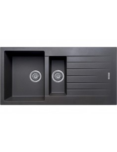 1.5 Bowl Matt Black Quartz Kitchen Sink