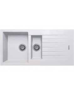 1.5 Bowl Matt White Quartz Kitchen Sink
