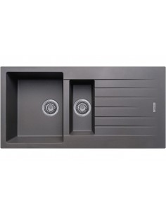 1.5 Bowl Matt Dark Grey Quartz Kitchen Sink