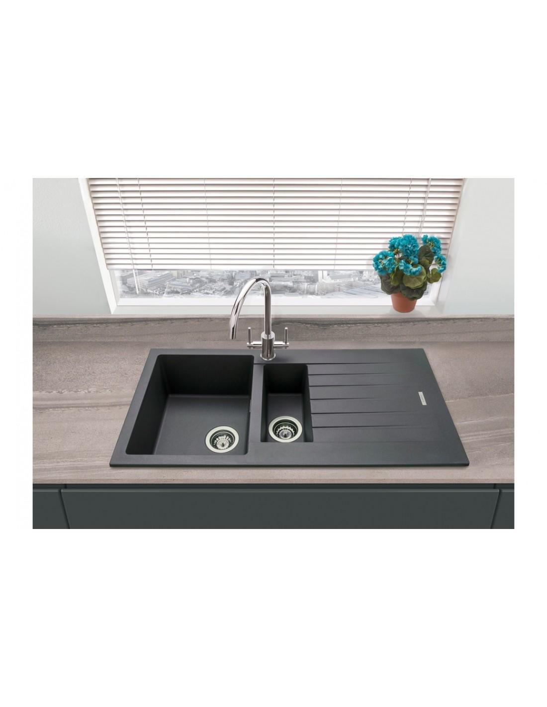 Matt Light Grey Granite Quartz Kitchen Sink 1000 X 500mm