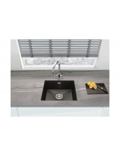 Quartz Black Kitchen Sink 1.0 Bowl Undermount, 555 X 457mm