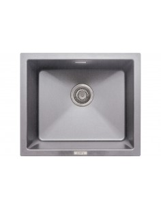 Quartz Light Grey Kitchen Sink 1.0 Bowl Undermount, 555 X 457mm