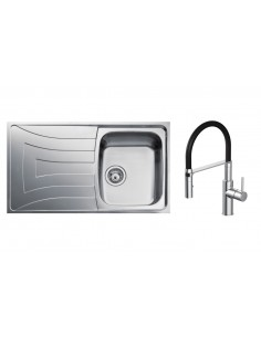 Teka Universo Kitchen Sink 1.0 Bowl Stainless Steel/Grained