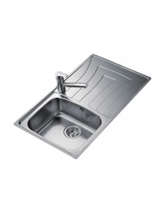 Teka Universo Kitchen Sink 1.0 Bowl Polished Stainless Steel