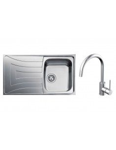 Teka Universo Kitchen Sink Stainless Steel & BTK301 Tap Pack