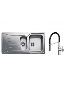 Teka Universo 1.5 Kitchen Sink Polished Stainless Steel/Waste