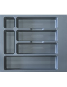 600mm Kitchen Cutlery Insert 497 to 551mm Width Matt Grey