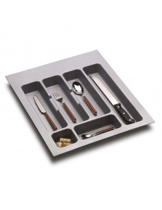 400mm Kitchen Cutlery Insert 297 to 351mm Width Matt Grey