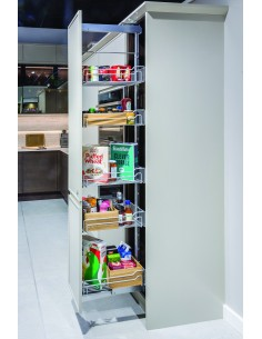 300mm Kessebohmer Silver Pull Out Larder In Frame Kitchens