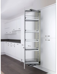 300mm Kessebohmer Style Grey Swing Larder In Frame Kitchens
