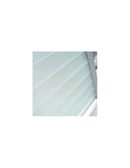 Vetro Line Glass Tambour Satin