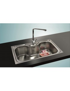 Clearwater Ocean Large Single Bowl Kitchen Sink Includes Stainless Basket & Washing Bowl