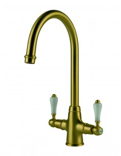 Clearwater Elegance Bronze & White Lever Kitchen Tap