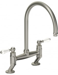 Clearwater Elegance Kitchen Bridge Tap Adjustable Centre Holes