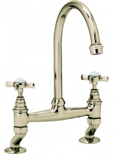 Clearwater Cottage Kitchen Bridge Tap Antique Bronze
