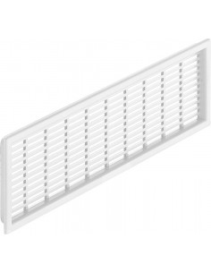 Ventilation Grill 227x68mm White/Brown Recess Mount