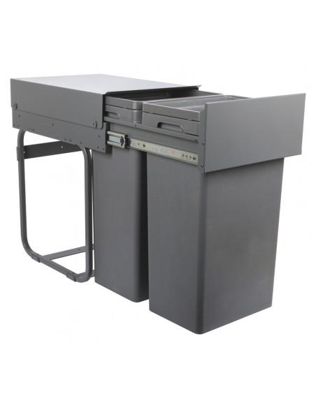 Boss Kitchen Waste Bin Suits Hinged Kitchen Doors 400mm 2