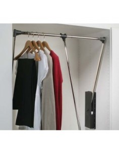 Pull Down Clothing Hanging Rail 600-1000mm Various Widths