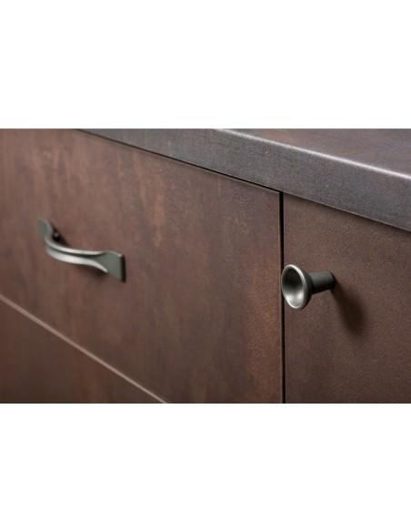 Ravioli Ant Brass Door Handles 29mm Dia Knob Or 96mm