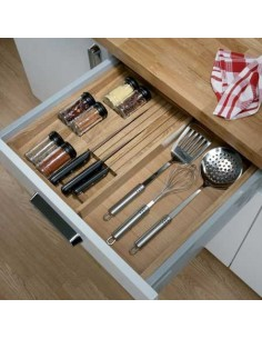 Expanding Insert Oak Spice Rack/Knife To Suit 500mm Depth