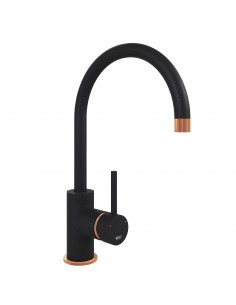 Courbe Curved Copper & Black Kitchen Tap