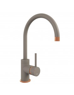 Concrete & copper Kitchen tap The Courbe 1810 Company