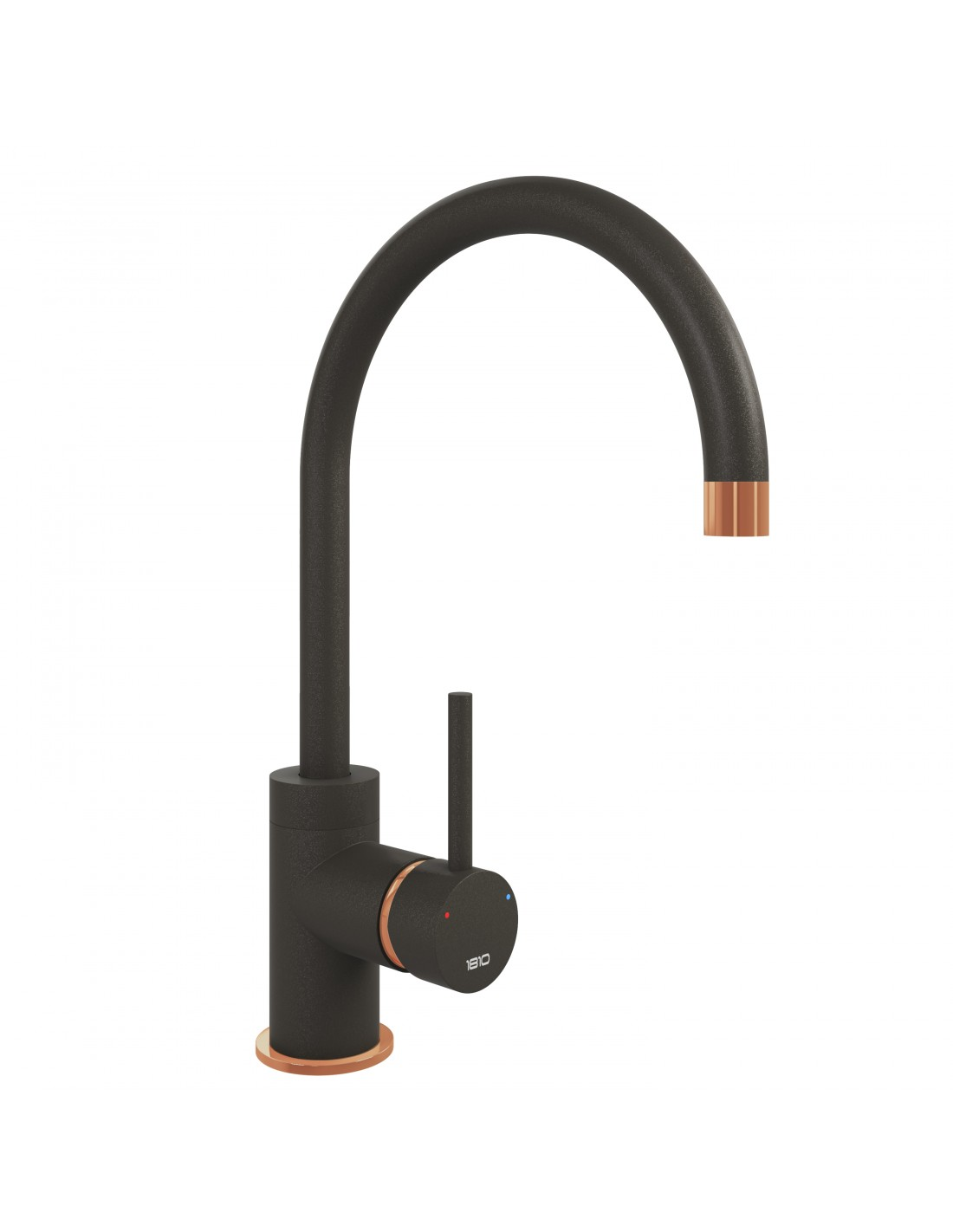 Courbe Coloured Curved Kitchen Tap Copper Or Chrome