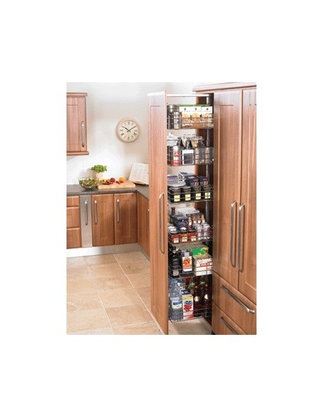 WWH7231 Pull Out Tall Kitchen larder 300mm X6 Baskets
