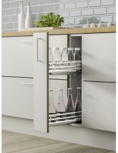 Deluxe 150mm Base Pull Out Storage Soft Closing Runners
