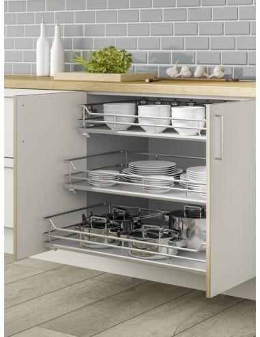 Individual Pull Out Shelving Basket Drawers Perfect For Cramp
