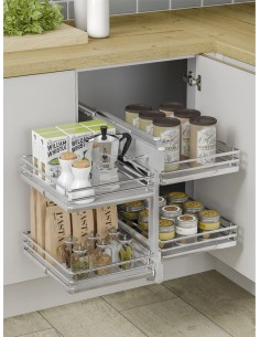 Blind Corner Optimiser Luxury Corner Storage 1000mm