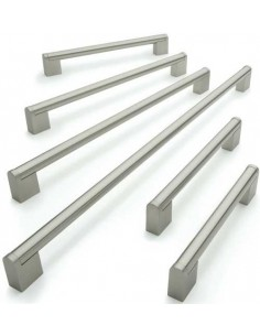 Modern Boss Bar Handle 128-448mm Centres Stainless Steel Finish 6 Sizes