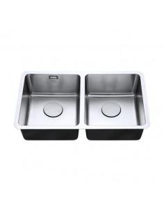 18/10 340/340U Luxsoplus Double Bowl Kitchen Sink