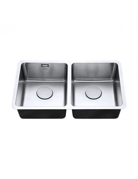 18/10 340/340U Luxsoplus Double Bowl Kitchen Sink
