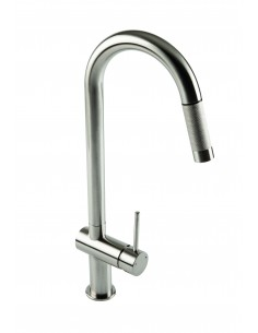18/10 Grande Pull Out Spray Kitchen Tap Brushed