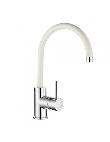 Courbe White & Chrome Kitchen Tap 1810