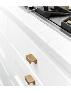 Station Door Handles, Furnipart Brushed brass