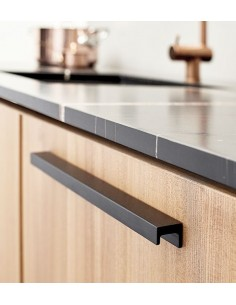 Station Pull Door Handles, Brushed Matt Black