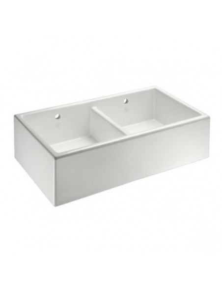 white porcelain double kitchen sink shaws classic shaker bowl belfast 800mm kitchen 1859