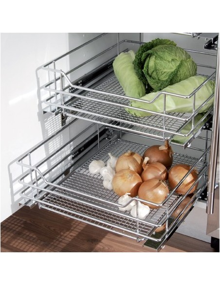 Vauth-Sagel Pull Out Storage Chrome Baskets 400-600 Widths