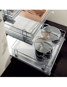 54023202 Pull-Out Chrome Wire Basket For 400-1000mm Cabinet Widths