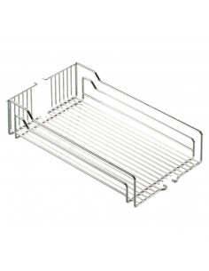 300/400mm Peka Linea Larder Pull Out Chrome Baskets