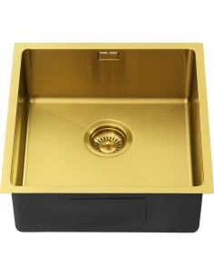 Gold Brass Sink 400U ZEN15