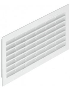 Ventilation Grill 299x120mm Recess Mount White Plastic