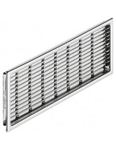 Ventilation Plinth Grill 220x57mm Recess Mount Chrome